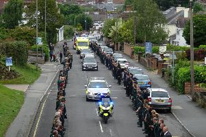 Bruce Davy's funeral in Uckfield. Photo by Eddie Mitchell
