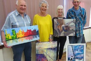 Chichester Art Society - Ziggi Zaniec, Barbara Jensen, Christine Wheeler, Rob Corfield