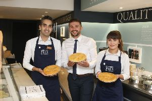Staff at the opening of Turner's Pies in Worthing in August 2018