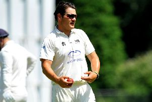 Ben Manenti finished with figures of 3-48 for Roffey against Cuckfield on Saturday. All pictures by Steve Robards