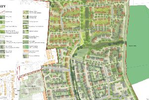 Illustrative masterplan for part of the site