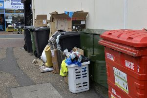 Rubbish builds up on the streets of Eastbourne (Photo by Jon Rigby) SUS-180531-100206008