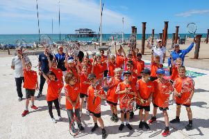 Tennis for Kids on Brighton seafront