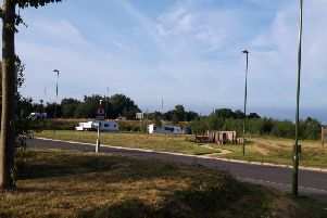 Travellers have moved into the Kingley Gate development land in Littlehampton