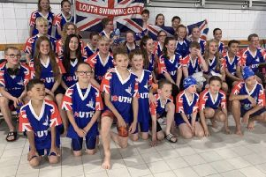 The Louth Swimming Club squad at the annual season highlight in Eindhoven EMN-190718-102737002