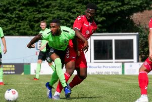 Hemel in action on the road during the pre-season against Ebbsfleet United. The Tudors secured their first away win of the new campaign on Saturday at Hampton & Richmond Borough. (File picture by Ben Fullylove).