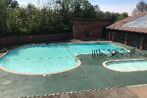 Outdoor pool at the Abbey Fields Swimming Pool facility