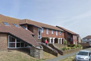 The terrifying incident happened at St David's Court in Peacehaven. Picture: Google Street View