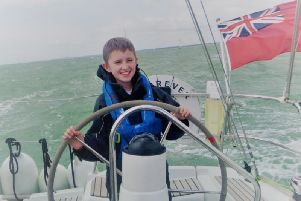 Cancer-survivor Sienna took the sailing trip with other young people to meet other young people in the same boat as her.