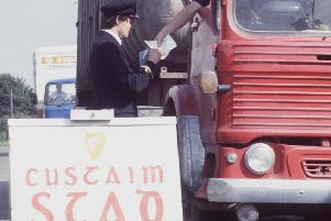 An Irish customs post near Newry in 1981. It is claimed dissidents are unlikely to attack Irish posts, while the UK insists it will not create any.