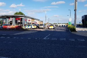 Anarea of Skegness beach was cordoned off and a scene guard in place at the bus shelter on North Parade.