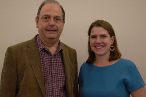Lib Dem Francis Oppler and party leader Jo Swinson
