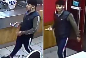 Police have released CCTV images of a man they would like to interview. Photo: Sussex Police