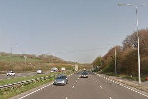 The collision happened on the A23 near Pyecombe. Picture: Google Street View