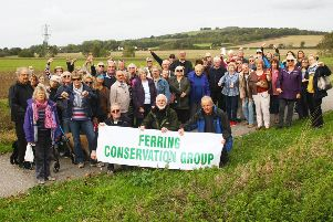 Residents and community groups, including the Ferring Conservation Group, who are opposed to the plans