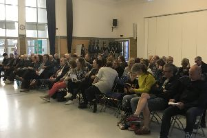 Every seat was filled at the public meeting on Tuesday