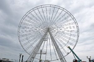 The Worthing Observation Wheel on the seafront is being dismantled.