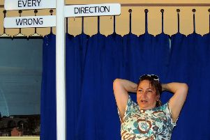 Brighton railway station ticket office clerk Tracy Savage, who grew up in Shoreham, will be performing at Brighton Fringe next year. Photo: Lin Brooks of Rooftop Shouts.