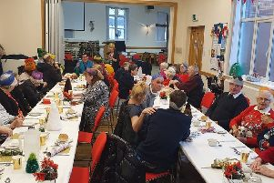 The Open House Christmas meal included an hour of carols led by the Salvation Army Bognor Regis band