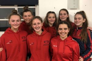 The world record rowing team, Daisy Chamberlain, Aoife Montagner, Florence Locks, Freya Hooker, Issy Walker, Izzy Hooker and Olivia Griggs
