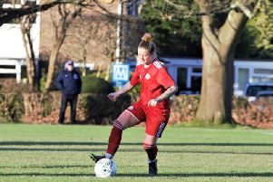 Rebecca Barron netted on her Worthing Women's debut. Picture: OneRebelsView
