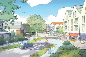 An artists' impression of how the development might look