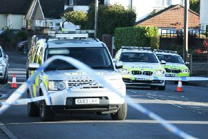 Emergency services at the scene of the crash earlier this month