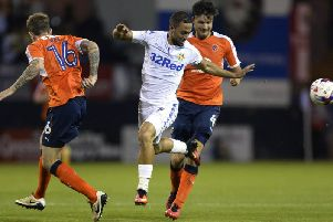 Jonathan Smith in action for Luton