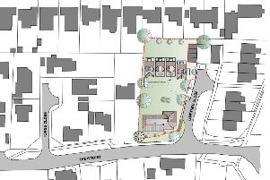 Proposed layout of new homes in Lime Tree Close, East Preston,