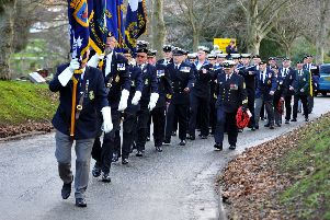 Parade of Navy veterans in Durrington to mark a Second World War victory.  Pic Steve Robards SR20021701 SUS-200217-160712001