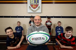 Mini rugby players Ben Best, Billy Whiteman, Richie Best, Jake Ratcliffe, Daniel McClean and Jason Thompson joined Rory Best for the announcement that Banbridge Rugby Club will hold a Homecoming Festival weekend for the Irish Rugby legend which includes a tournament featuring local mini rugby teams.