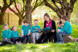 Little Pioneers nursery in Littlehampton are celebrating after their nursery was given top marks by Ofsted inspectors. Picture: daveperryphotography.co.uk