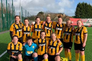 The AFC Littlehampton Ladies XI that picked up a point at Bexhill