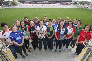 Representatives of the 16 clubs in this year's Ulster Women's Junior Cup