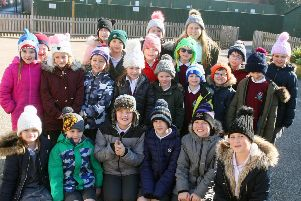 Wear a Woolly Hat Day at The Globe Primary Academy in Lancing. Photo by Derek Martin DM1922440a