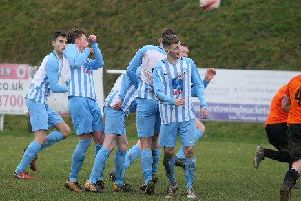 Worthing United went down in a key SCFL Division 1 relegation battle at Midhurst & Easebourne. Picture: Derek Martin
