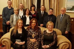 Larne Music Festival Committee and the Mayor of Mid and East Antrim, Cllr Lindsay Millar, at the launch of this year's event.