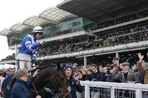 Bryony Frost and Frodon take the plaudits from the Cheltenham crowd after their famous victory / Picture: Getty Images