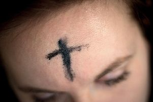 Ash Wednesday involves ash crosses being drawn on peoples foreheads to mark the start of Lent