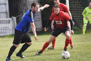 Action from Hollington United's 3-0 defeat at home to Cuckfield Rangers. Picture by Justin Lycett