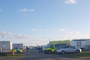 The scene after a child fell into water at the Waterside Leisure Park in  Anchor Lane,  Ingoldmells. ANL-191104-111633001