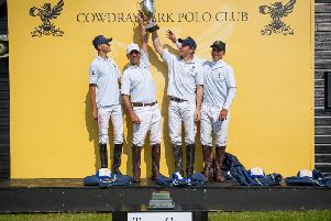 River lift the Tyro Cup / Picture by Clive Bennett - www.polopictures.co.uk