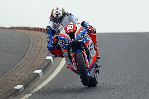 Peter Hickman won his second race at the North West 200 with victory in Thursday's Superstock event.