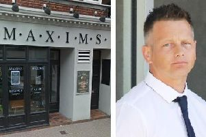 PC Paul Bridger (right) had been suspended from duty for more than two years following the incident at Maxims in Eastbourne. Picture: Google Streetview