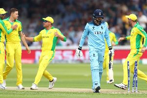 James Vince heads back to the pavilion after being bowled second ball by Jason Behrendorff  Picture: Michael Steele/Getty Images