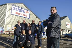 Members of the Screwfix team in Boston.