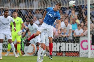 Pompey's Sean Raggett. Photo by Dave Haines/Portsmouth News