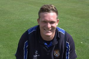 Coleraine's overseas man, Graham Hume.