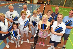 A group of Pickleball players in a mid-week session ''Picture: Malcolm Wells (190814-3266)
