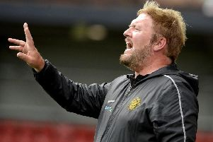 Carrick Rangers manager Niall Currie. Pic by INPHO.